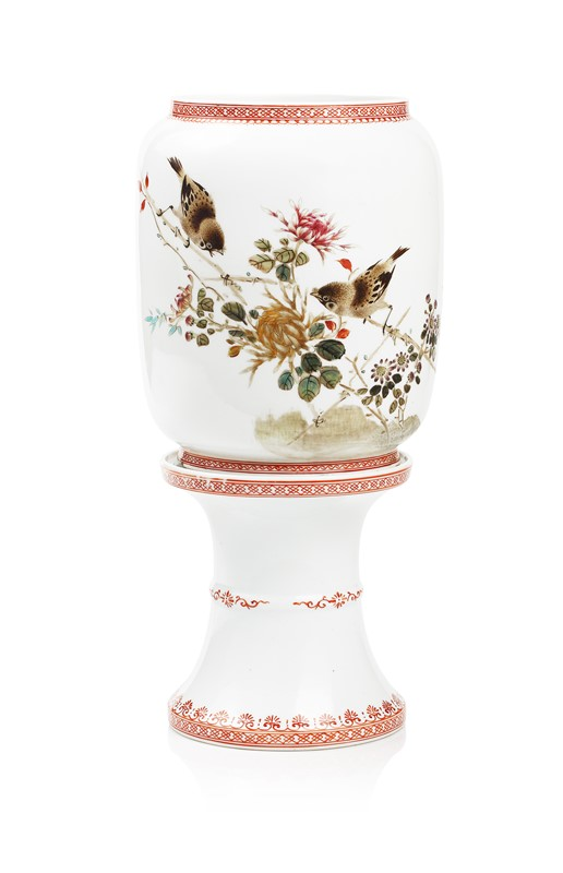 TWO PIECE PORCELAIN TABLE LAMP