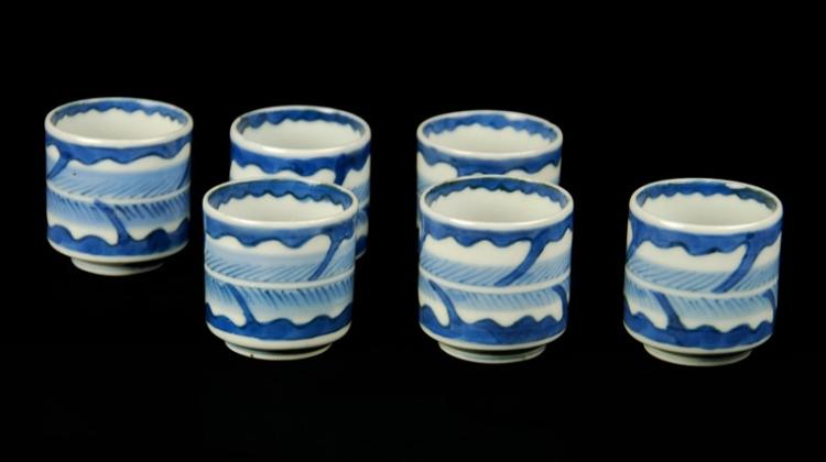 BLUE AND WHITE SOBA CUP SET