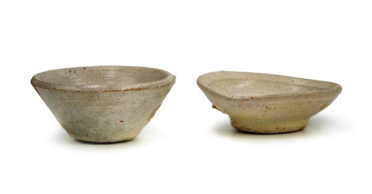 PAIR OF SMALL GLAZED DISHES