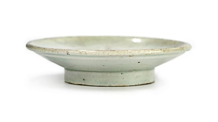 LIGHT BLUE GLAZED DISH