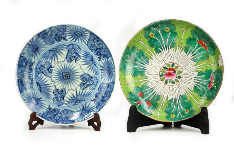 PAIR OF PAINTED PLATES