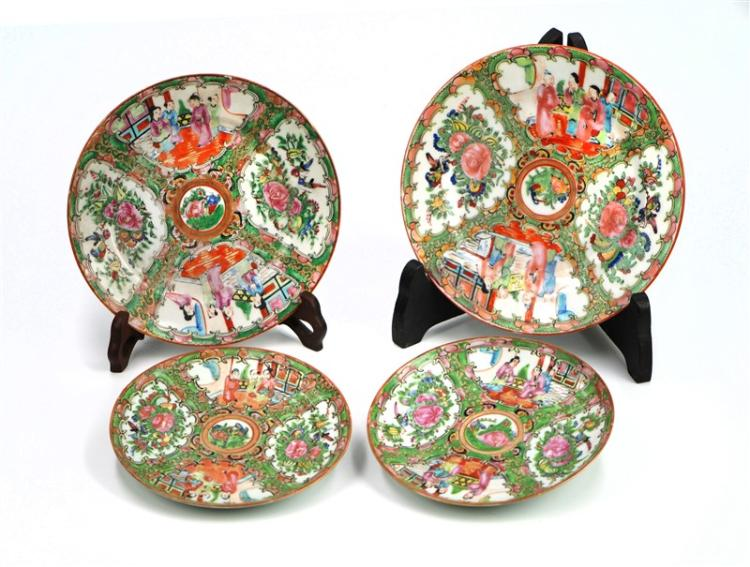SET OF FOUR FAMILLE VERTE SYLE PLATES
