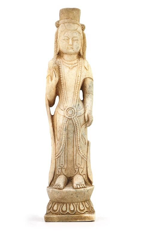 STONE GUANYIN BUDDHA STATUE