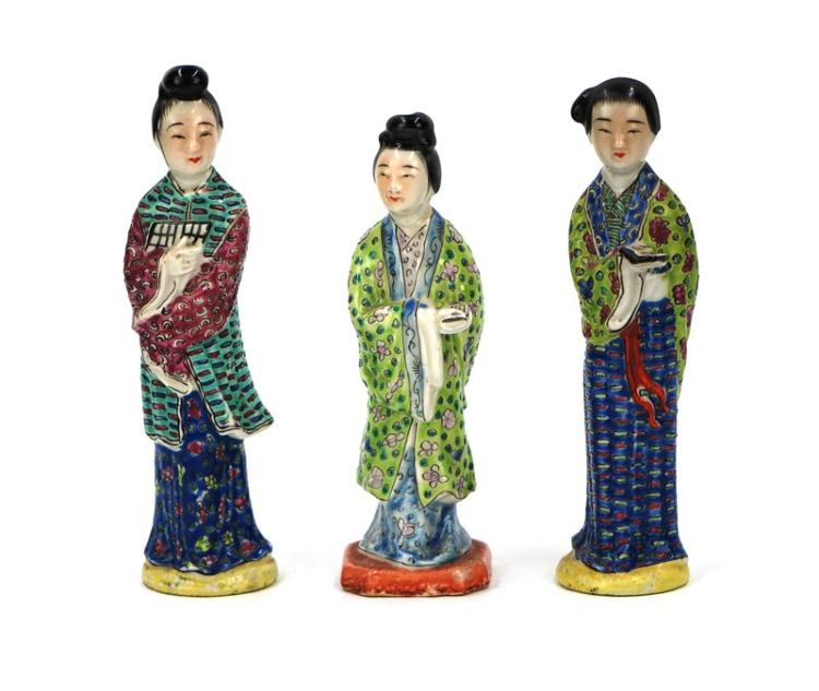 CERAMIC WOMEN FIGURINE TRIAD