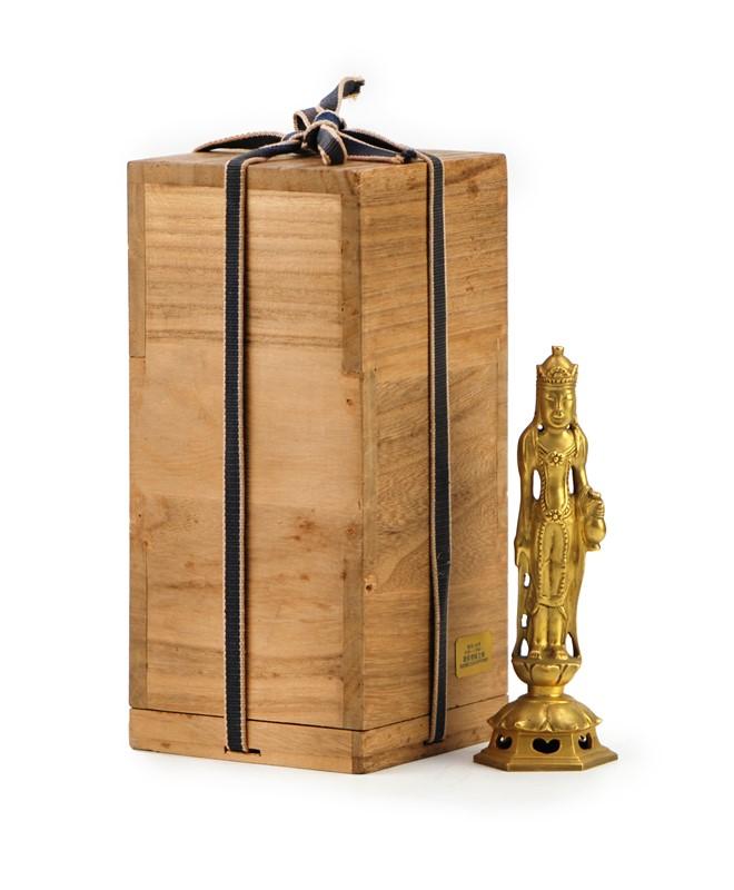GILDED STANDING BUDDHA