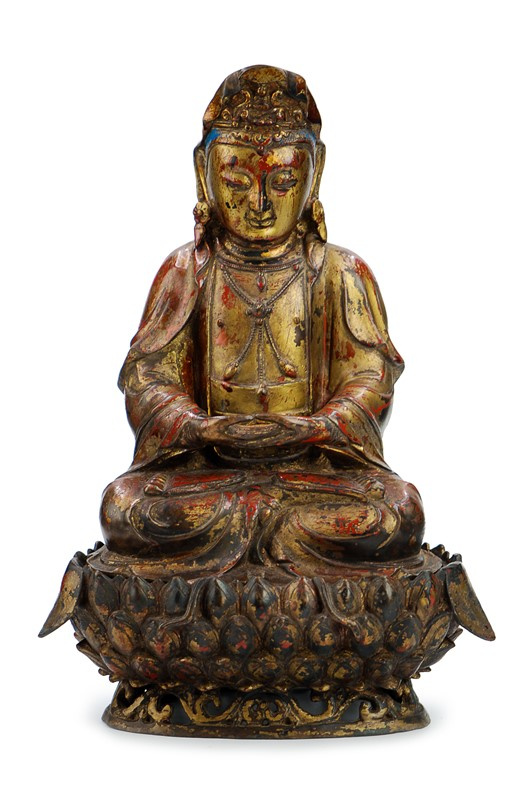 GILT PAINTED BUDDHA
