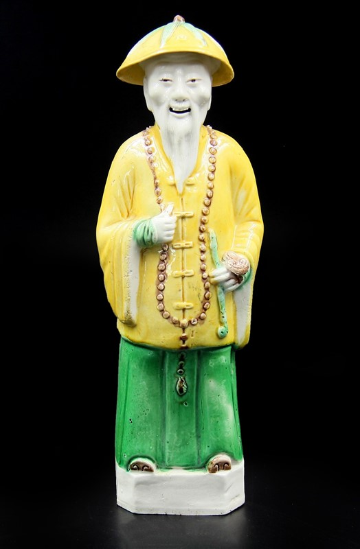 SU SAN CAI LAUGHING MAN PORCELAIN FIGURE