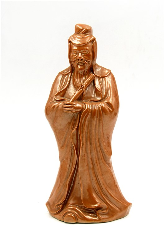 BROWN GLAZED PORCELAIN FIGURINE