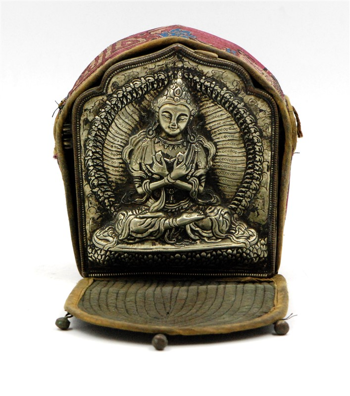 TIBETAN SILVER BUDDHA SHRINE