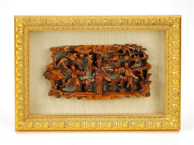 FRAMED BOXWOOD CARVING
