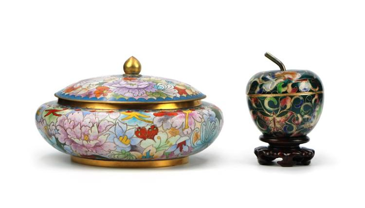 CLOISONNE BOX PAIR