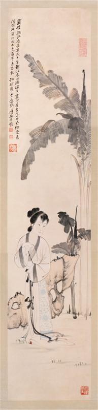 BEAUTY BY BANANA TREE PAINTING BY ZHANG DA QIAN