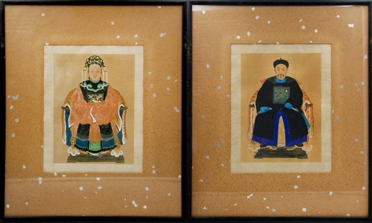 PAIR OF IMPERIAL FIGURAL PAINTINGS