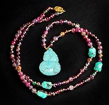 DOUBLE GOURD TURQUOISE NECKLACE