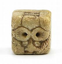 CARVED STONE BLANK STAMP