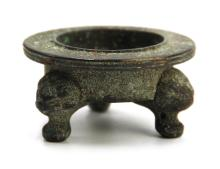 BRONZE TRIPOD BURNER; (10th-14th)