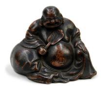 A BRONZE SEATED BUDDHA OF MAITREYA