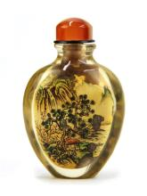 INSIDE PAINTED SNUFF BOTTLE BY YE ZHONG SAN