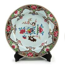 QING DYNASTY (1616-1912) LARGE 18th CENTURY EXPORT PLATE
