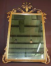 Gold  gilt mirror, 40in. T, 26in. W.