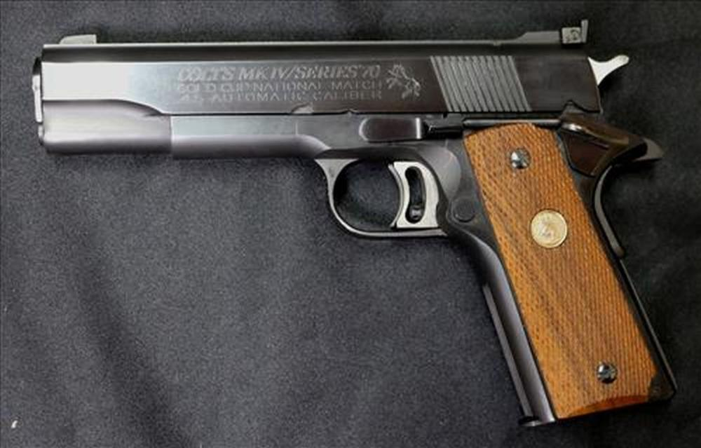 Sold Price Colt 1911 Series 70 Gold Cup National Match October 6 0118 9 00 Am Cdt