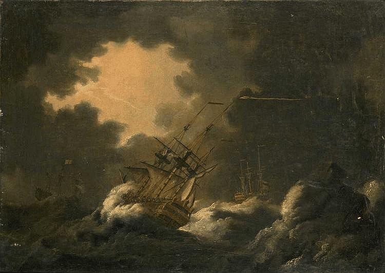 Francis SWAINE British 1720-1782 A Frigate in