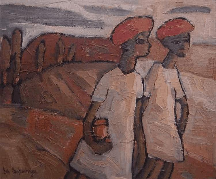 Iris AMPENBERGER South African 1916-1981 Off to
