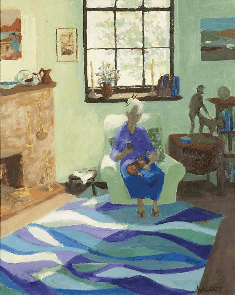 Marjorie WALLACE South African 1925-2005 Relaxing