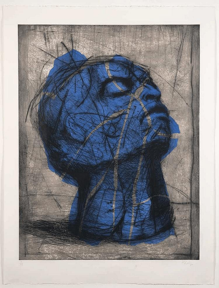 William Joseph KENTRIDGE South African 1955- Blue