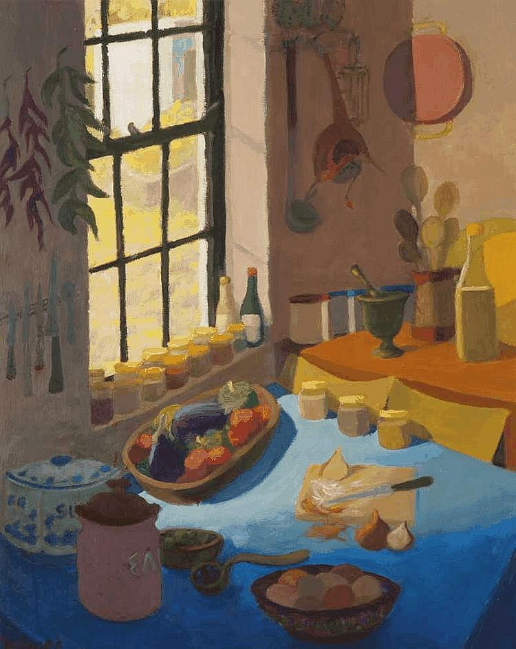 Marjorie WALLACE South African 1925-2005 Kitchen