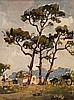 Gregoire Johannes Boonzaier - Trees and Cottages, Jan Grégoire, Click for value