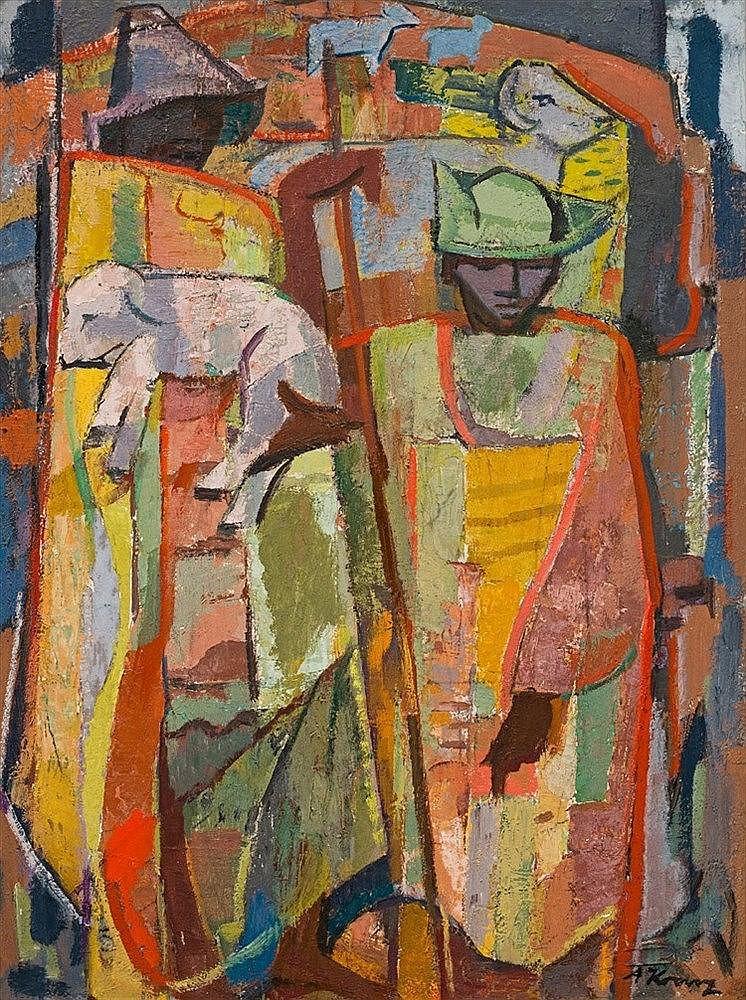 Alfred Friedrich Franz Krenz - Basotho Shepherds