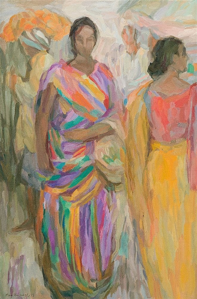 May (Mary Ellen) Hillhouse - Two Indian Women