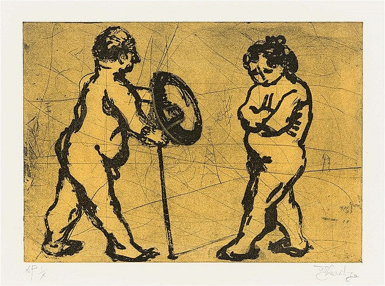 William Joseph Kentridge - Adam and Eve