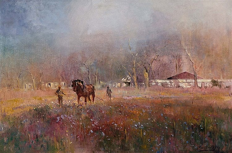 Errol Stephen Boyley - Ploughing in Spring