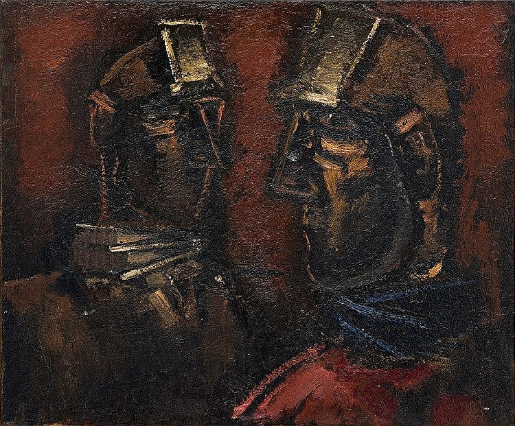 Josef Herman - Two Miners