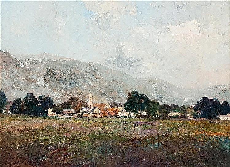 Errol Stephen Boyley - Landscape with Church