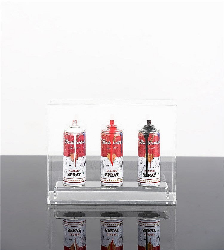 Mr. Brainwash - Spray Cans, three