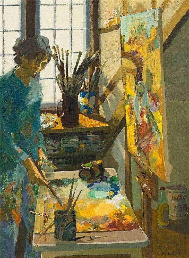 Marjorie Wallace - Self Portrait in Studio