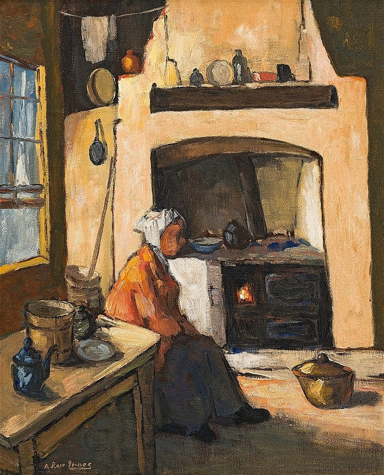 Alexander Rose-Innes - Kitchen Interior with elderly Women