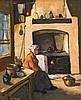 Alexander Rose-Innes - Kitchen Interior with elderly Women, Alexander Rose-Innes, R0