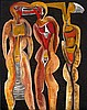 Cecil Edwin Frans Skotnes - Figure Panels, four