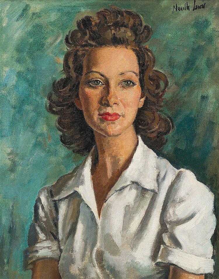 Alfred Neville Lewis - Portrait of Blanche Behrmann