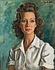 Alfred Neville Lewis - Portrait of Blanche Behrmann, A. Neville Lewis, R0