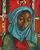 Irma Stern - Woman with Blue Headscarf, Irma Stern, R0