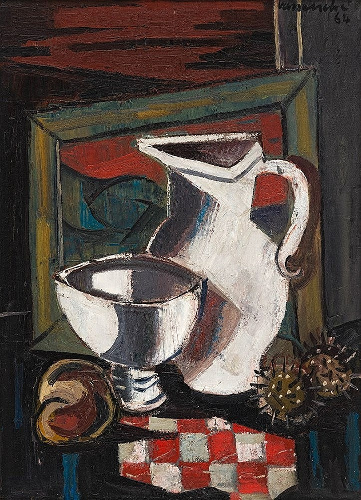 Maurice Charles Louis van Essche - Still Life with White Jug