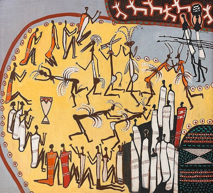 Walter Whall Battiss - Rock Art Composition I