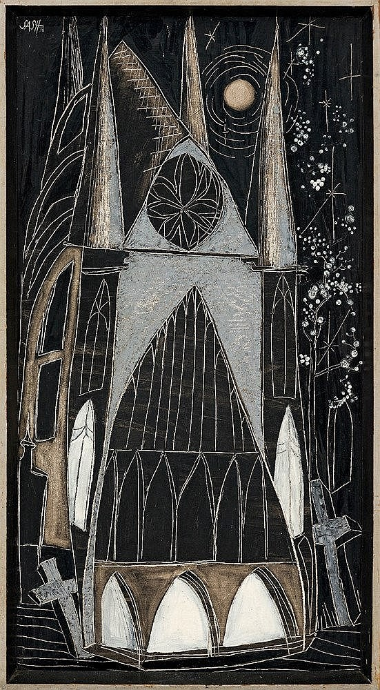 Cecily Sash - A Church by Moonlight