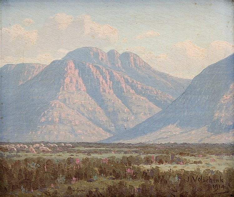Jan Ernst Abraham Volschenk - View in the Courente River Mountain, Riversdale