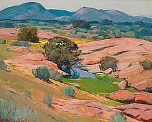 Piet (Pieter Gerhardus) van Heerden - Landscape with Trees and Mountains Beyond